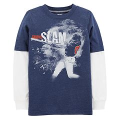 Boys 4-12 Carter's 'Grand Slam' Baseball Mock Layer Graphic Tee