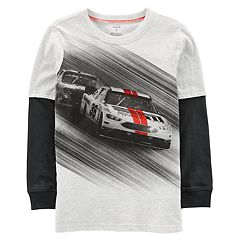 Boys 4-12 Carter's Race Car Mock Layer Graphic Tee