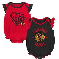 Baby Girl Chicago Blackhawks Bodysuit Set