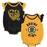 Baby Girl Boston Bruins Bodysuit Set