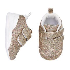 Baby Girl Carter's Glitter Sneaker Crib Shoes