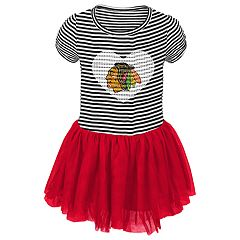 Toddler Girl Chicago Blackhawks Ice Queen Tutu Dress