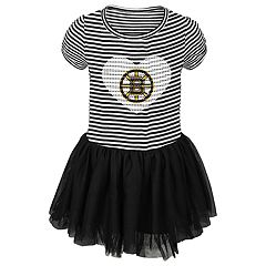 Toddler Girl Boston Bruins Ice Queen Tutu Dress
