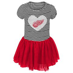 Toddler Girl Detroit Red Wings Ice Queen Tutu Dress