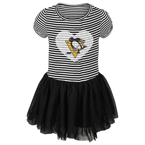 online store 14f1d 2ed1a Toddler Girl Pittsburgh Penguins Ice Queen Tutu Dress