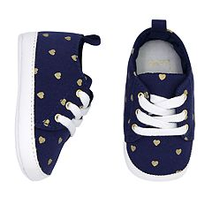 Baby Girl Carter's Heart Print Sneaker Crib Shoes