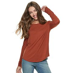 Juniors' Mudd® Crewneck Long Sleeve Tee