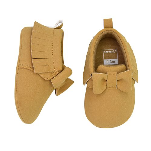 Baby Girl Carter's Bow Moccasin Crib Shoes