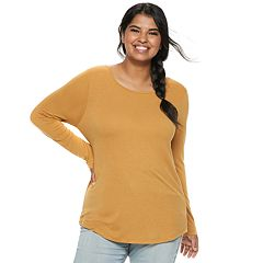 Juniors' Plus Size Mudd® Crewneck Tee