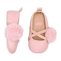Baby Girl Carter's Pom Mary Jane Crib Shoes