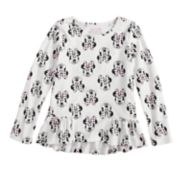 Disney's Minnie Mouse Girls 4-10 Pieced Ruffle Hem Top by Jumping Beans®