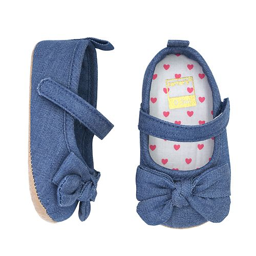 Baby Girl Carter's Bow Mary Jane Crib Shoes
