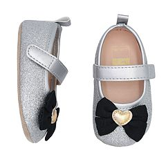 Baby Girl Carter's Glittery Bow Mary Jane Crib Shoes