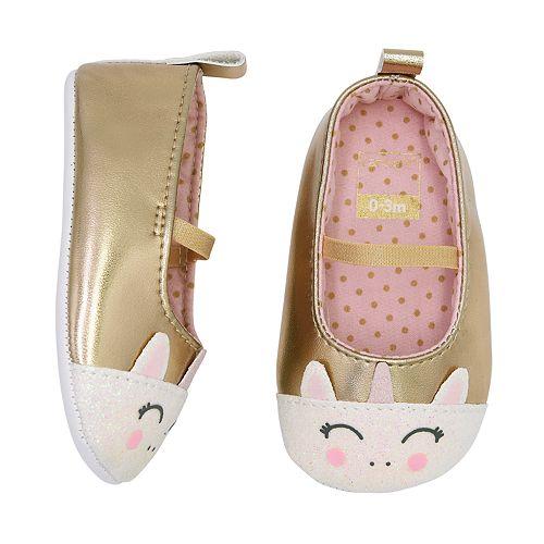 14ee30292 Baby Girl Carter's Unicorn Mary Jane Crib Shoes