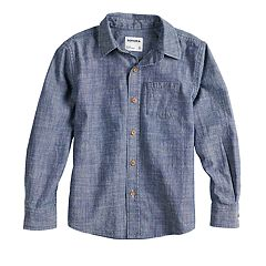 Boys 4-12 SONOMA Goods for Life™ Woven Button Down Chambray Shirt