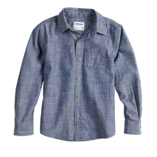 Boys 4-12 SONOMA Goods for Life? Woven Button Down Chambray Shirt