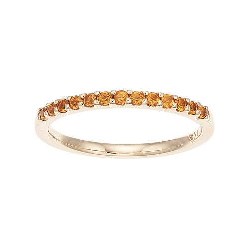 Boston Bay Diamonds 14k Gold Citrine Stack Ring