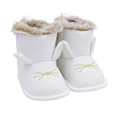 Baby Girl Carter's Bunny Boot Crib Shoes