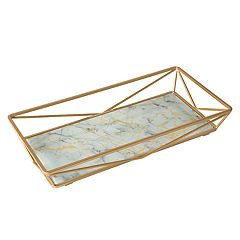 Home Details Marble Agate Design Geometric Vanity Tray