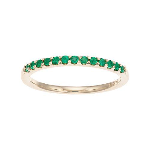 Boston Bay Diamonds 14k Gold Emerald Stack Ring