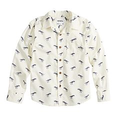 Boys 4-12 SONOMA Goods for Life™ Dinosaur Button Down Shirt