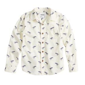 Boys 4-12 SONOMA Goods for Life? Dinosaur Button Down Shirt