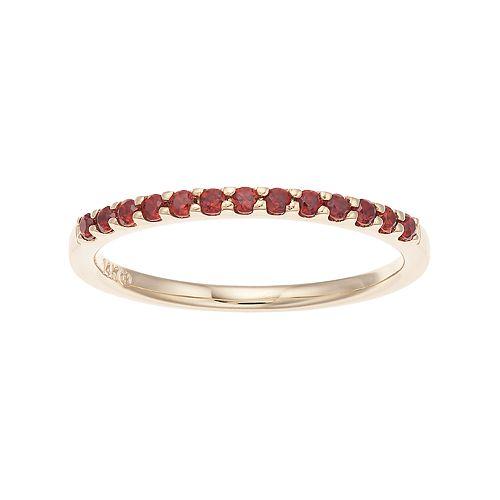 Boston Bay Diamonds 14k Gold Garnet Stack Ring