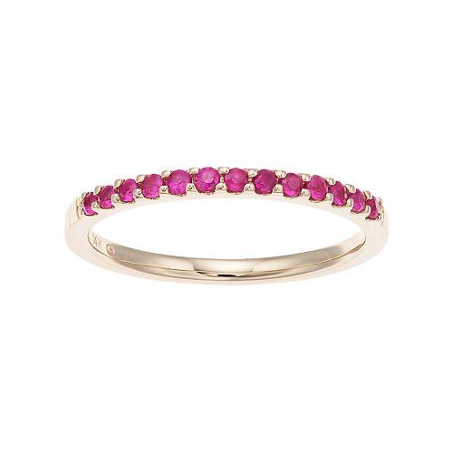 Boston Bay Diamonds 14k Gold Ruby Stack Ring