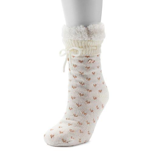 LC Lauren Conrad Sweater Knit Birdseye Slipper Socks