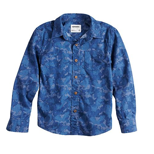 Boys 4-12 SONOMA Goods for Life™ Camouflaged Button Down Shirt