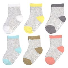 Baby Girl Carter's 6-pack Colorblock Crew Socks