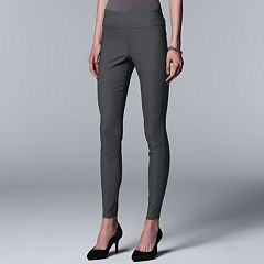 Petite Simply Vera Vera Wang Everyday Luxury Ultra Stretch High-Waisted Skinny Pants