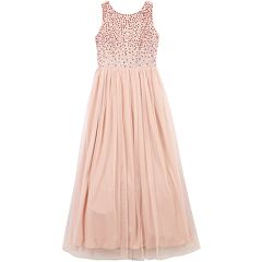 Girls 7-16 Speechless Rhinestone & Tulle Maxi Dress