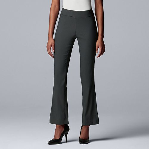 Petite Simply Vera Vera Wang Modern Ultra Stretch Mid-Rise Bootcut Pants