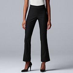 Petite Simply Vera Vera Wang Modern Twill Mid-Rise Bootcut Pants