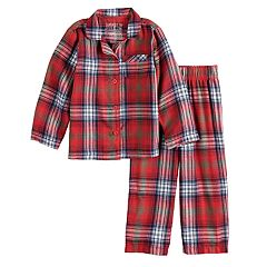 Toddler Jammies For Your Families Plaid Flannel Top & Bottoms Pajama Set