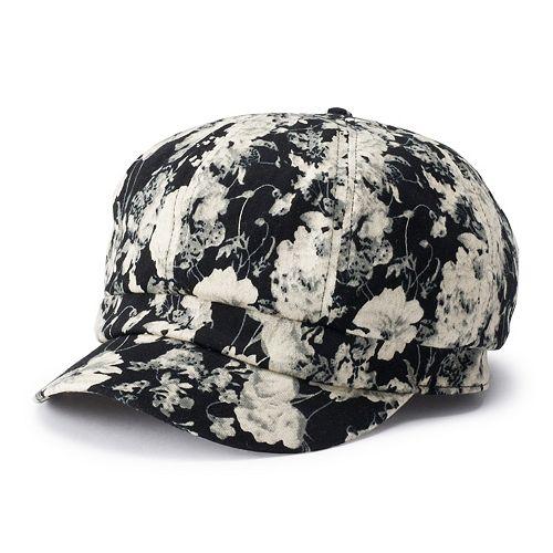 Women's Apt. 9® Floral Print Cabbie Hat