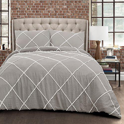 Lush Decor Diamond Pom Pom 3-piece Comforter Set
