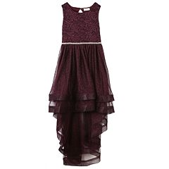 Girls 7-16 Speechless Glitter High-Low Dress