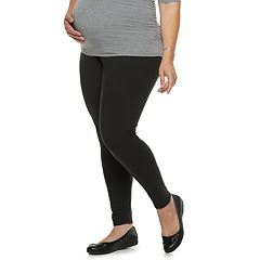 d9242e8dd17 Pants. Plus Size Maternity a glow Full Belly Panel Solid Leggings. Dark  Slate Black