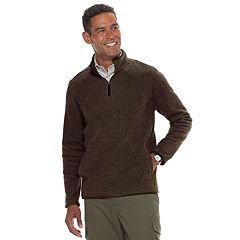 Men's Croft & Barrow® Classic-Fit Textured Fleece Quarter-Zip Pullover Sweater