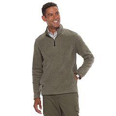 Men's Croft & Barrow® Classic-Fit Textured Fleece Quarter-Zip Pullover Sweater
