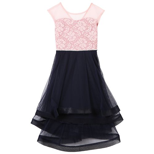 Girls 7-16 Speechless Lace Illusion Dress
