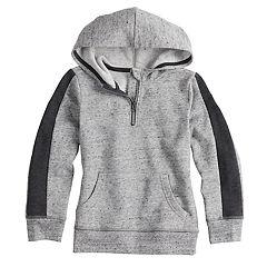 Boys 4-12 SONOMA Goods for Life™ Quarter Zip Pullover Hoodie