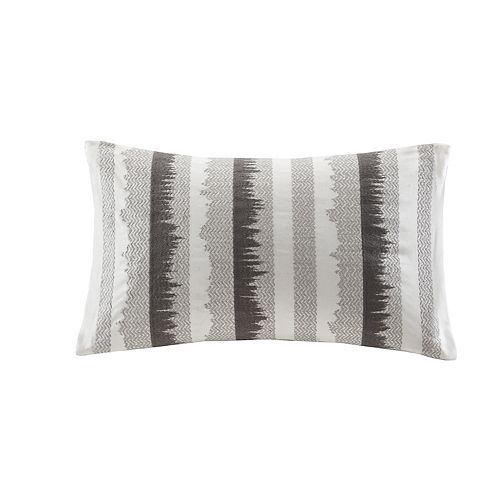 Ink+Ivy Chet Embroidered Oblong Throw Pillow