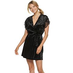 Women's Apt. 9® Crushed Velvet Wrap Robe