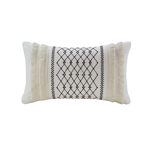 Ink+Ivy Bea Embroidered Oblong Throw Pillow