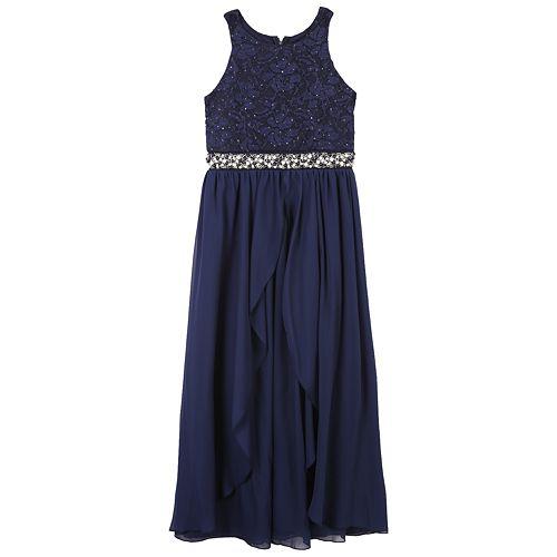 Girls 7-16 Speechless Jeweled Bodice Maxi Dress