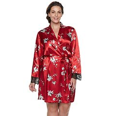 Plus Size Apt. 9® Satin Lace Wrap Robe