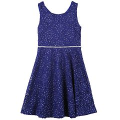 Girls 7-16 Speechless Sleeveless Lace Skater Dress